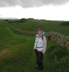 Hadrian's Wall walk for charity