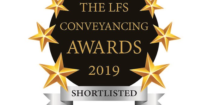 Another shortlisting for the LFS Conveyancing Awards 2019