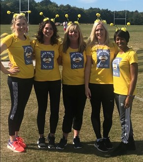 Neves Bees Knees team for Willen Hospice Sports Day